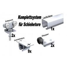 Bausatz Schiebetor bis 60 kg Deckenbefestigung 6m Edelstahl